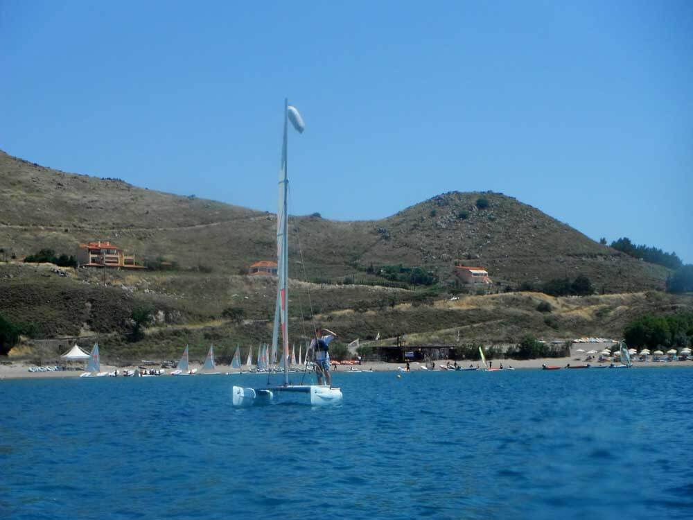 sail boats near Greek island of Lemnos