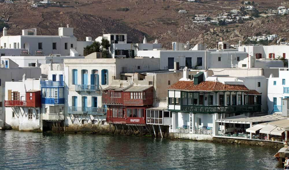 Old wooden houses of Mykonos