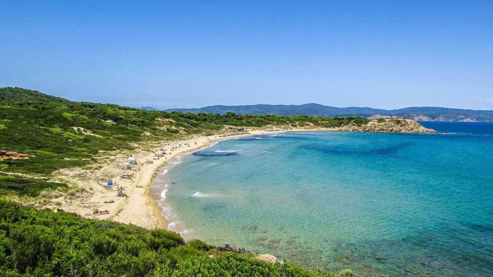 sandy beach on Skiathos
