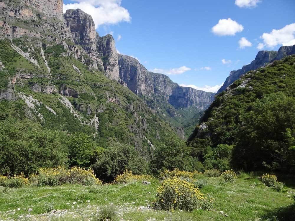 Vikos gorge in Epirus Greece