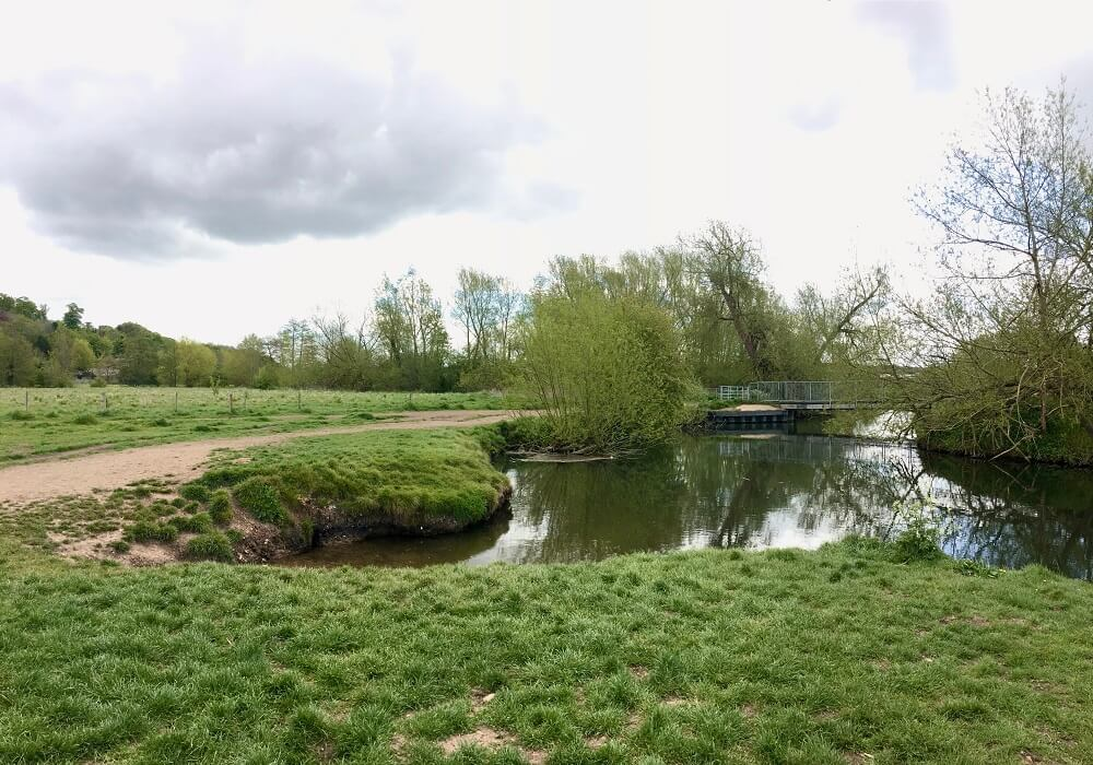 Bend in the River Beane in Hertfordshire