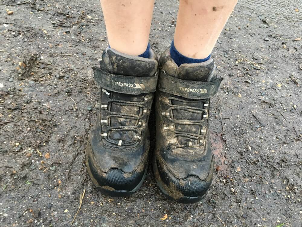 muddy kids hiking boots