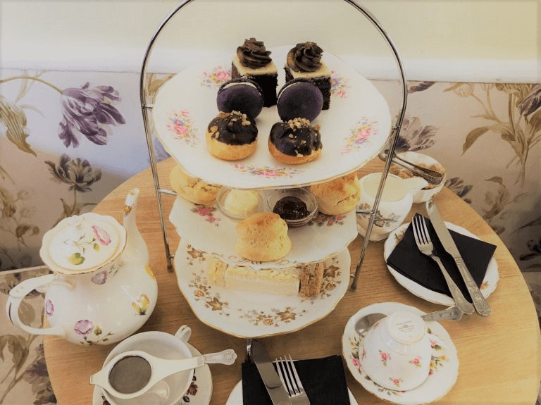 afternoon tea with cake stand
