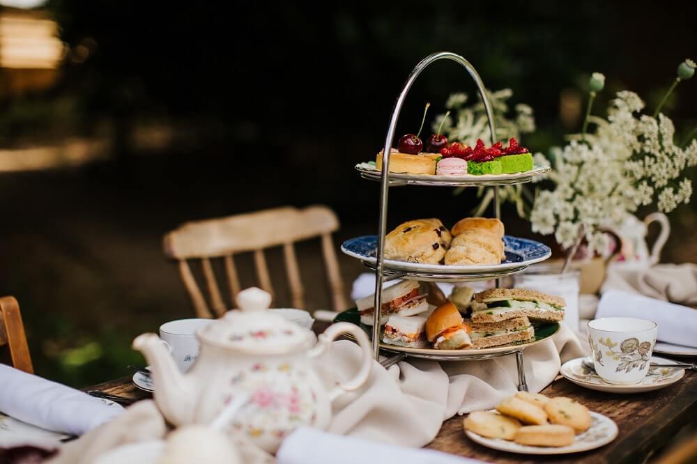 Afternoon tea in garden