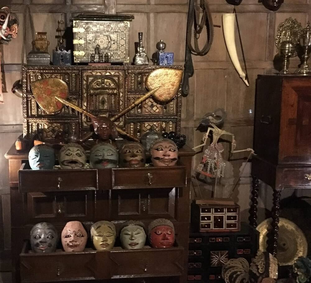 Collection of curiosities at Snowshill Manor in the Cotswolds