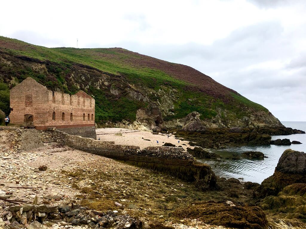Abondoned brickworks next to beach in Anglesey North Wales