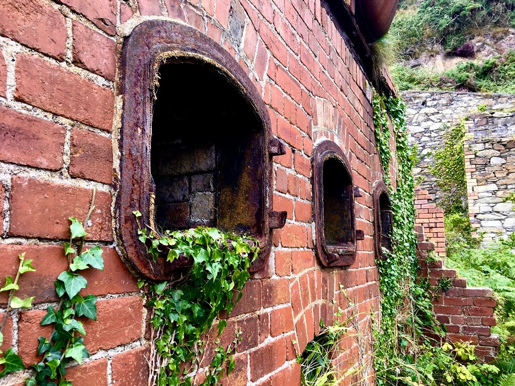 Old brick kiln with ivy