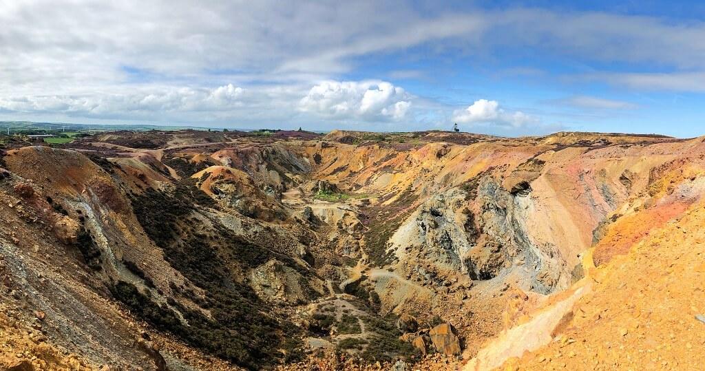 Copper mine landscape