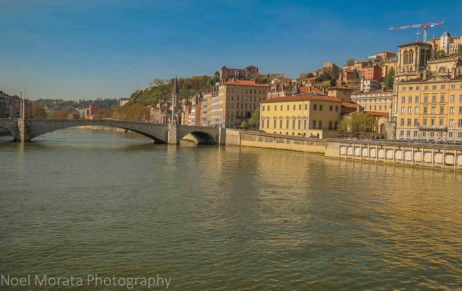 City beside river