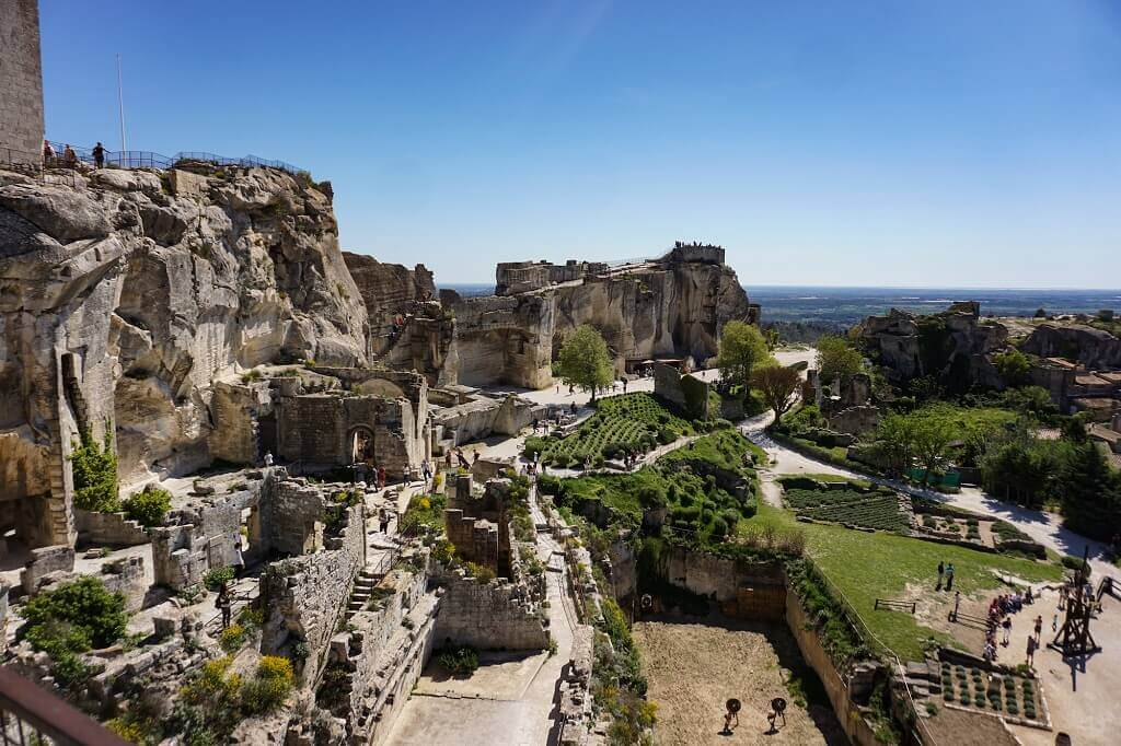 ruined castle in Provence France for kids
