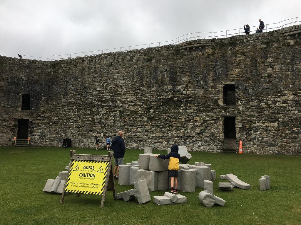Children building a castle